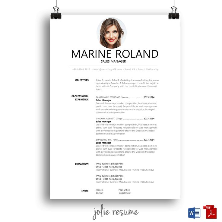 16 best template cv images on pinterest