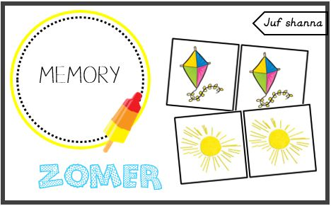 Thema zomer: memory