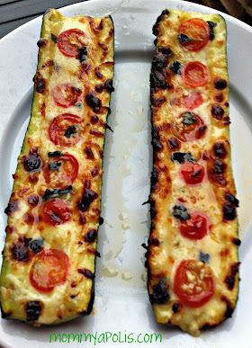 Grilled Zucchini Boats-