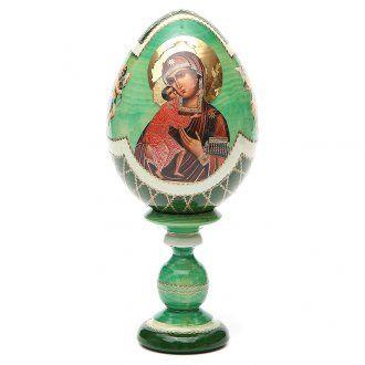 Russian Egg Feodorovskaya découpage, Fabergè style 20cm   online sales on…