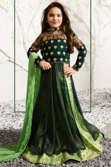 http://www.gebastore.com/salwar-kameez/collections/karma-mother-daughter-special/attractive-green-embroidered-designer-lehenga-style-anarkali-karma-1584-daughter.html  #suits #salwar #sarees #sari #lehenga #choli #gown #dresses #ethnicwear #casualwear #traditional #partywear #heavyembroidered #Mauritius #Jordan #Australia #indianlady #GebaStore #Festive #DressfromIndia #modelsuit #bridalwear #chaniacholi #occasionallywear #greendress #karma
