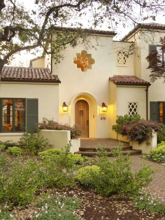 Spanish style curb appeal spanish mediterranean door Spanish home decorating styles
