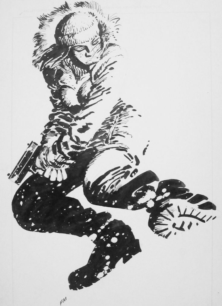 ungoliantschilde:  some black and white illustrations by Frank Miller.  with inks by Klaus Janson on Spider-Man and Daredevil and Joe Rubinstein on Wolverine.