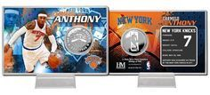 KNICKS/C ANTHONY COIN CARD - SILVER STAD