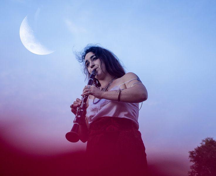 Clarinet Moon Musician Liana The Ghost Photography  lianatheghost.com