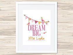 Dream Big Personalised Print - Girls