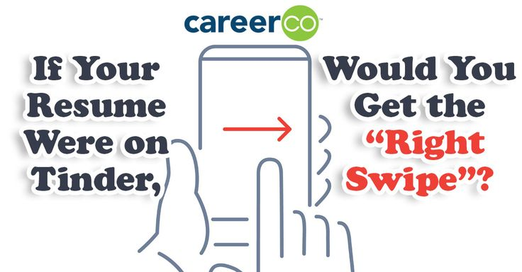 """Tinder users want the """"right swipe"""" and job applicants want the interview invite. Would your resume get the right kind of attention if it were on Tinder? @CareerCo"""