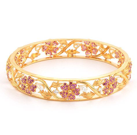 Beautiful Detailed Gold Indian Bangle - Stylehive