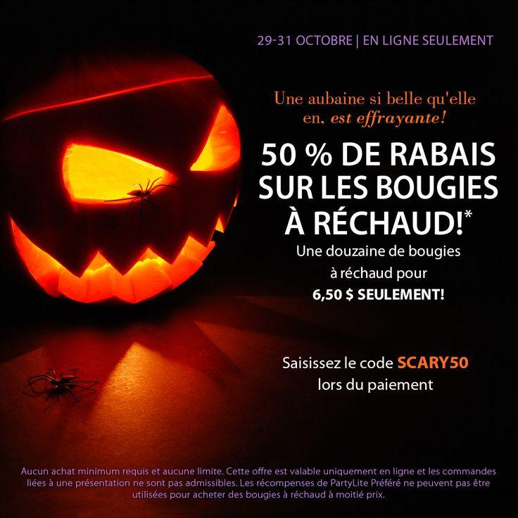 WOOHHH !!! 50%  c'est le temps de faire des provisions pour les soirées d'automne  http://www.partylite.biz/sites/sylvieblouin