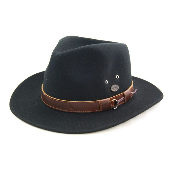 The Bigalli Outback felt fedora hat is a great product. The 100% wool felt design makes this hat water repellent, soft to the touch, and it looks great too. It features a brim measuring approximatel