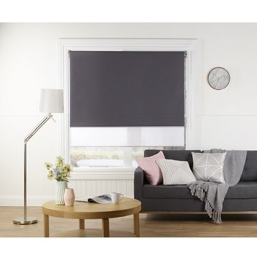 Windowshade Soho Day & Night Roller Blind Charcoal 210 x 240 cm