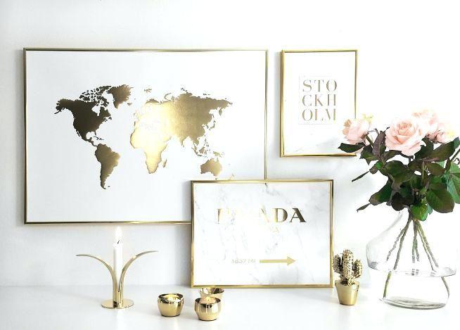 Schlafzimmer Deko Weiß Gold