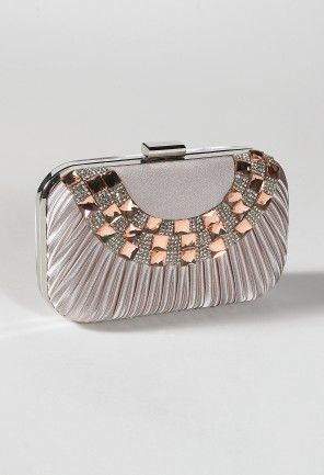 Pleated Satin Box Bag with Rhinestone Front from Camille La Vie and Group USA prom clutch: Rhinestones Front, Handbags Features, Clutches, Dresses, Satin Boxes, Boxes Bags, Accessories, Pleated Satin, Fashion Handbags