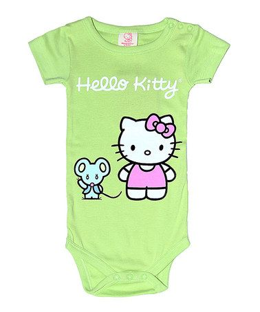 Take a look at this Apple Hello Kitty Organic Bodysuit - Infant by Hello Kitty on #zulily today!