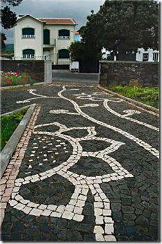 Um trajecto pela calçada portuguesa - Ponta Negra - Ilha Terceira - Açores