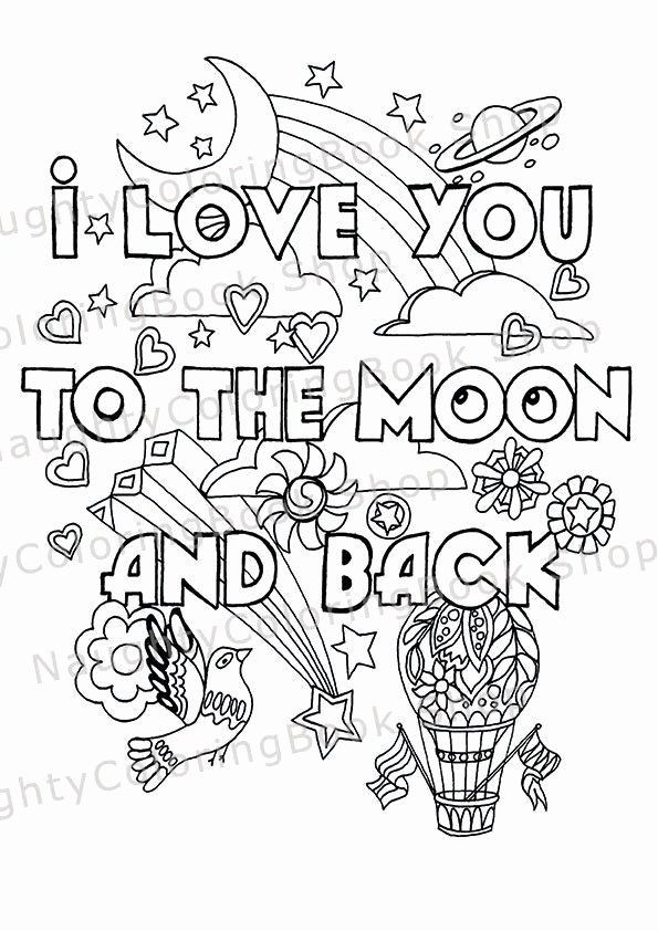 Coloring Pages For Boyfriend Beautiful I Love You To The Moon And Back Nursery By In 2020 Love Coloring Pages Heart Coloring Pages Valentine Coloring Pages