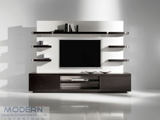 YumanMod Vision Single Wall Unit In Wenge