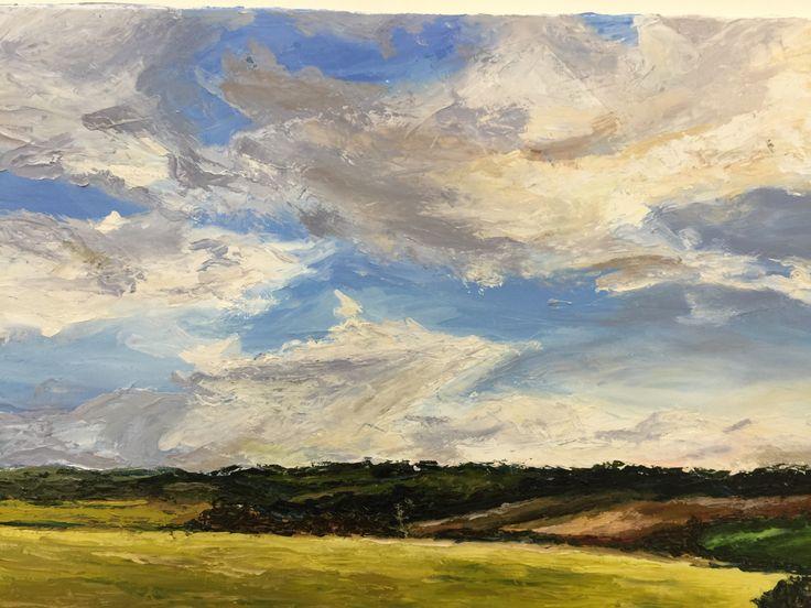 Emily - Impasto Landscape - oils.