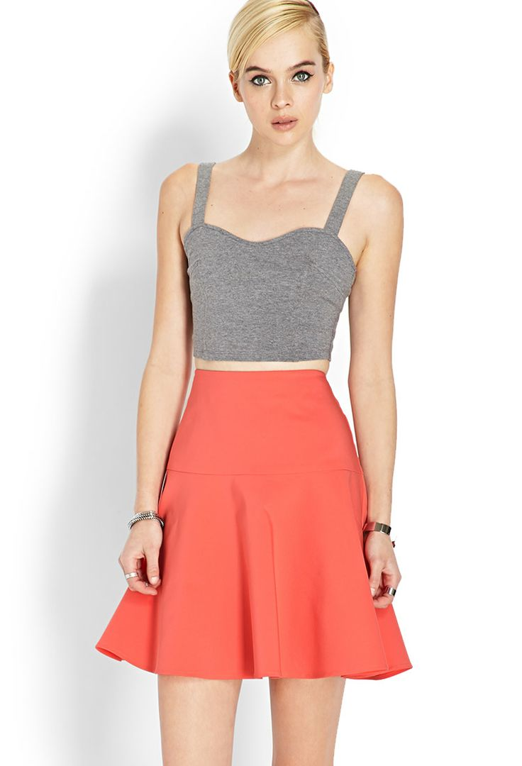 FOREVER 21 Jupe patineuse (corail)
