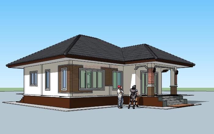 Perfect For Those On A Budget 3 Bedroom Single Storey House Plan Ulric Home Single Storey House Plans Modern Style House Plans House Plan Gallery
