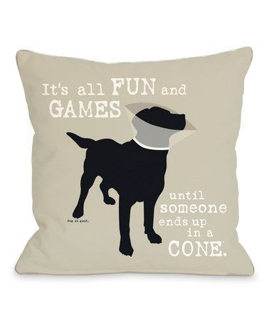 Another great find on #zulily! 'It's All Fun and Games' Pillow #zulilyfinds