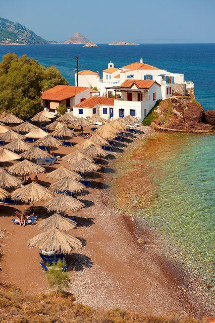Vlychos Village & beach, Hydra, Greek Saronic Islands.I think i could live here
