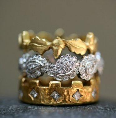 Cathy Waterman stacked rings