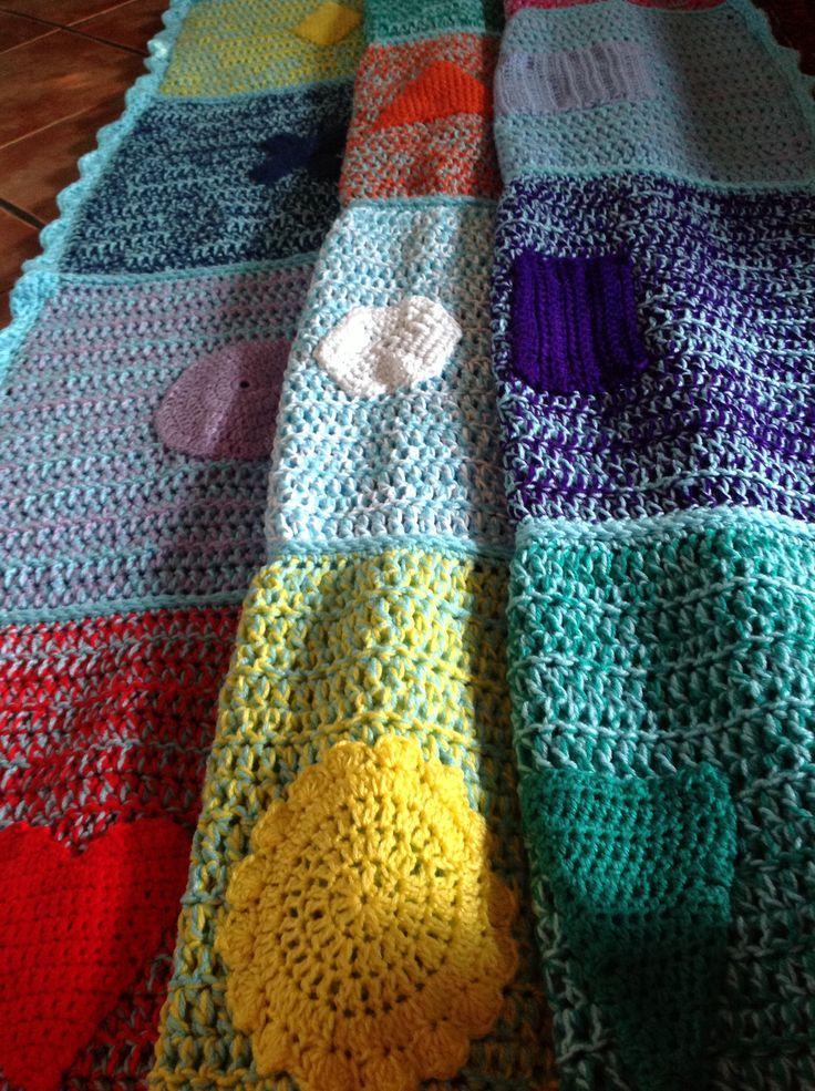 67Blankets for Nelson Mandela Day. Crochet blanket.