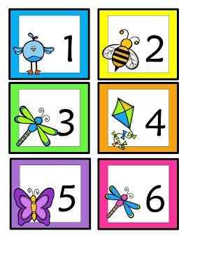 Spring Calendar Cards - free