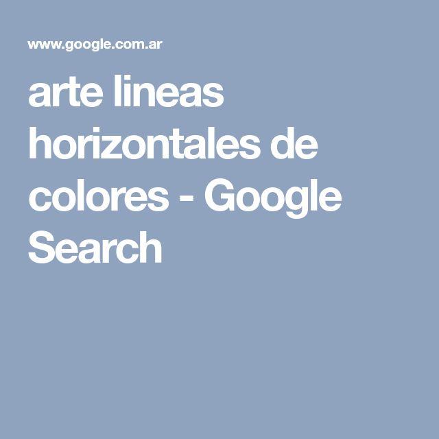 arte lineas horizontales de colores - Google Search