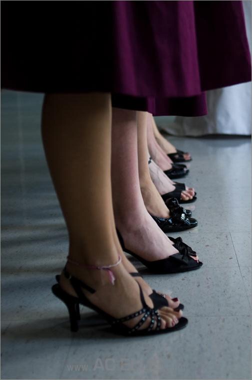 black bridesmaid shoes