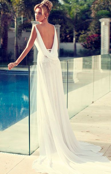 Nerit Hen свадебное платье в греческом стиле | смотреть фото цены купить