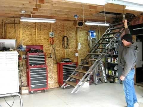 Best 25 garage attic ideas on pinterest attic storage Garage loft stairs
