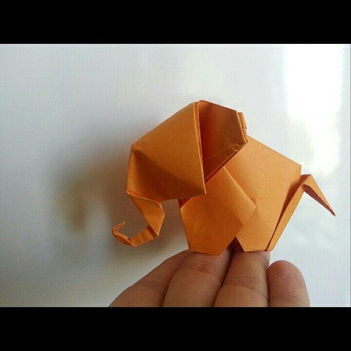 Orange elephant  by 'delice'