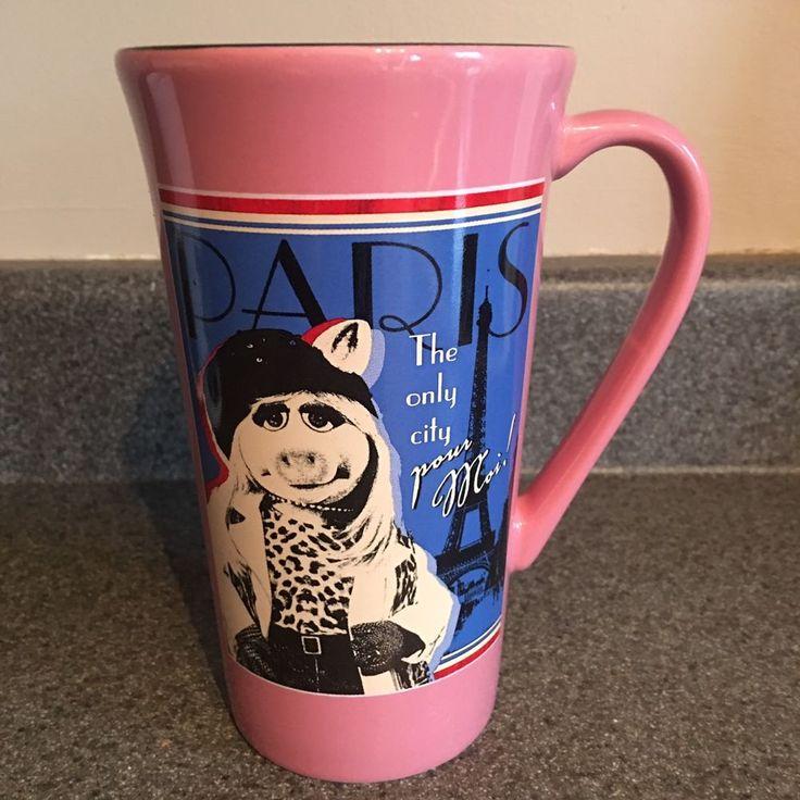 Muppets Miss Piggy Paris Pour Moi! Coffee Tea Cocoa Mug Disney Store    eBay