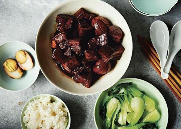 Fuchsia Dunlop's Shanghai Red-braised Pork with Eggs -Bureau of Taste