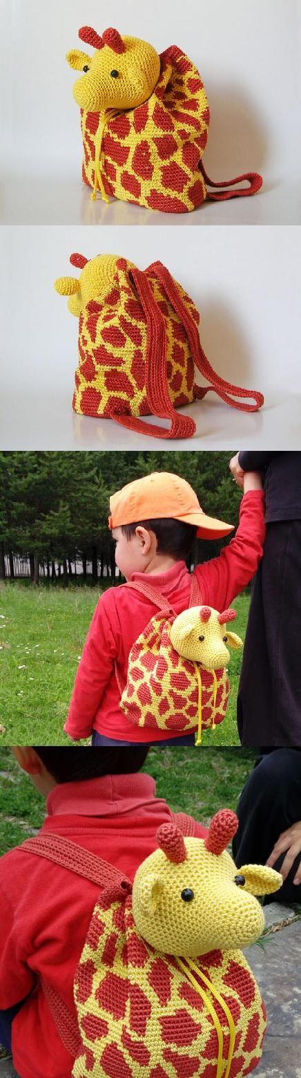 Giraffe Backpack Crochet Pattern