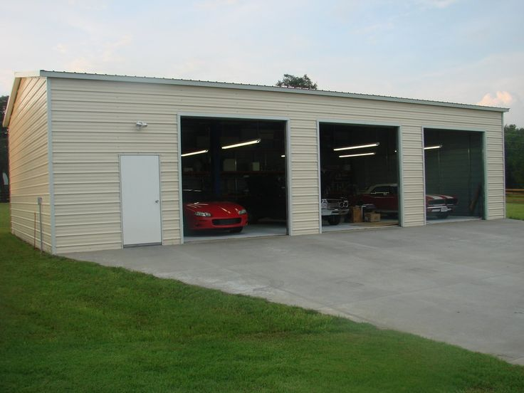 30 x 40 x 12 Workshop with two 10 x 10 roll up doors and one walk in door. – Store – Ideal Steel Carports
