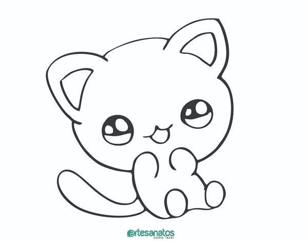 Gato Para Colorir Desenhos Para Imprimir E Pintar Desenhos
