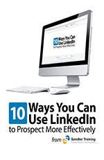 Discover the 10 Ways You Can Use LinkedIn to Prospect More Effectively.  Invest only twenty minutes a day, consistently, for thirty straight working days, and YOU WILL START GENERATING MORE PROSPECTS AND REFERRALS FROM LINKEDIN. Then … keep it up!