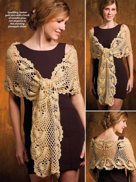 ergahandmade: Crochet Shawl + Diagrams + Free Pattern