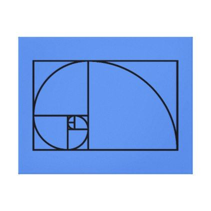 Fibonacci golden ratio - unique mathematical art canvas print - decor gifts diy home & living cyo giftidea