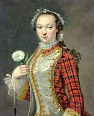 Cosmo Alexander (1724-1772.) Portrait of a Jacobite Lady. Oil on Canvas. Circa 1745-1750's. The Drambuie Collection, Edinburgh.