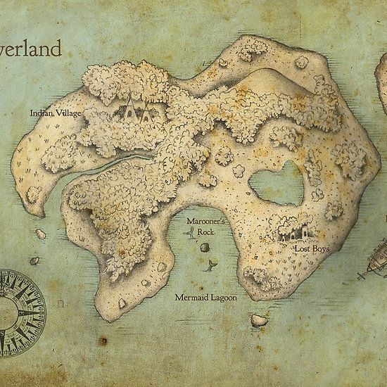 Peter Pan Neverland Map. This is going in my nursery!