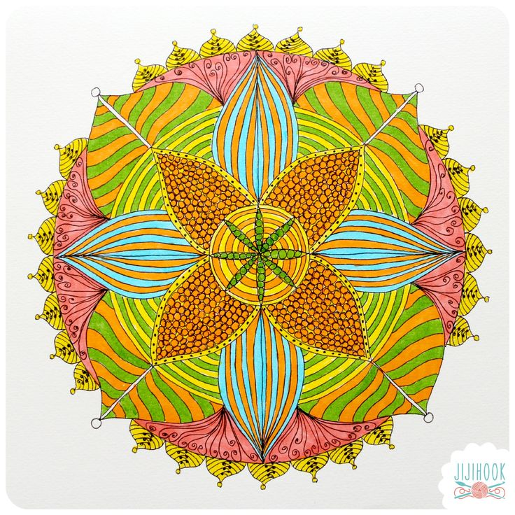 Un mandala à imprimer et à colorier - Printable mandala for coloring