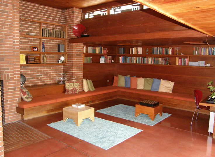 17 best images about usonian interiors on pinterest for Frank lloyd wright interior designs