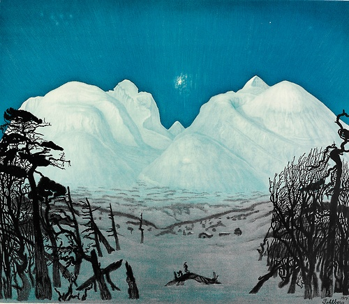 peira:    Harald Sohlberg: Vinternatt i Rondane (1917) via gwpa