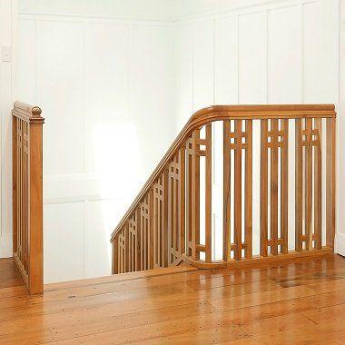 Timber Balustrade in native timber - New Zealand Heart Matai - in an old renovated villa