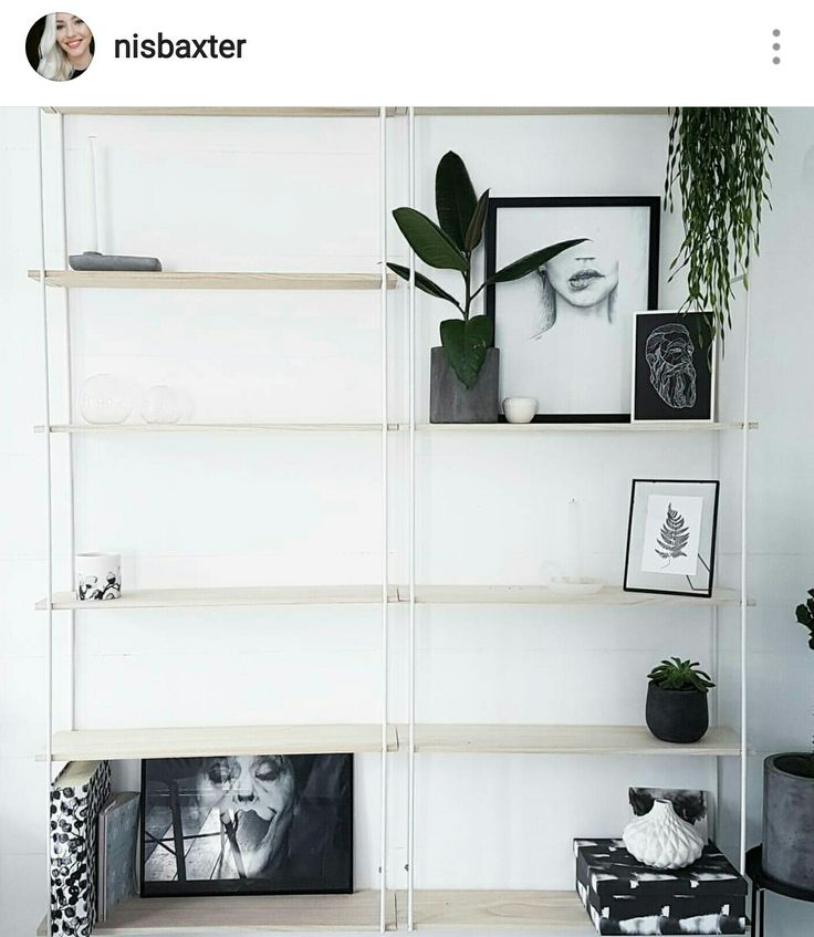 My new shelf from sostrenegrene! Love it snd its perfect in my white monocrome scandinavian home. Also totally inlove with plants at the moment Instagram: Nisbaxter