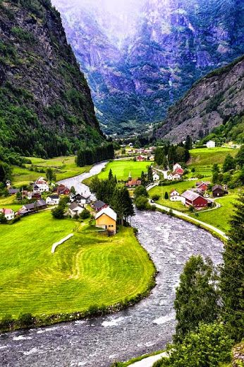 The village of Flam, Norway, population in 2014 was 350.  The village of Flam since the late 19th century has been a tourist destination it currently receives almost 450,000 visitors a year.  The harbour of Flam receives some 160 cruise ships per year.  Photo: google+.com/explore/landscapes
